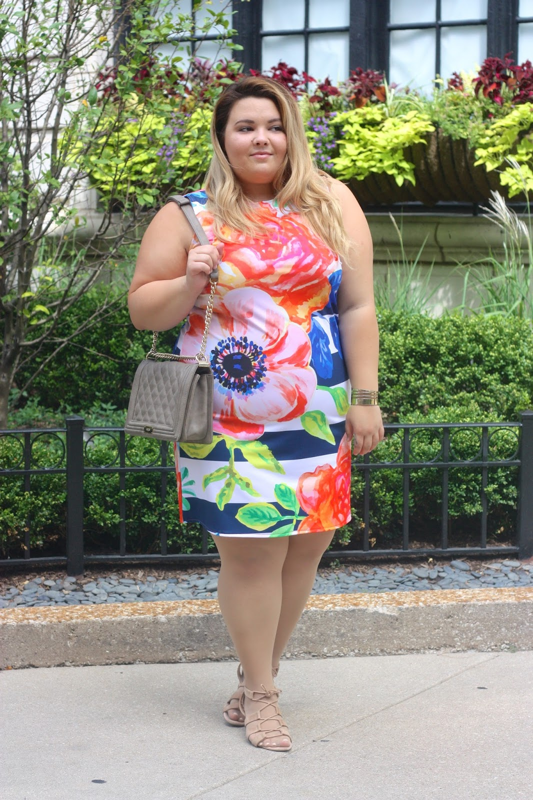 pineapple clothing, blogger collaboration, floral dress, plus size clothing, plus size fashion blogger, natalie craig, chicago, natalie in the city, mommy and me clothing, shift dress, fatshion