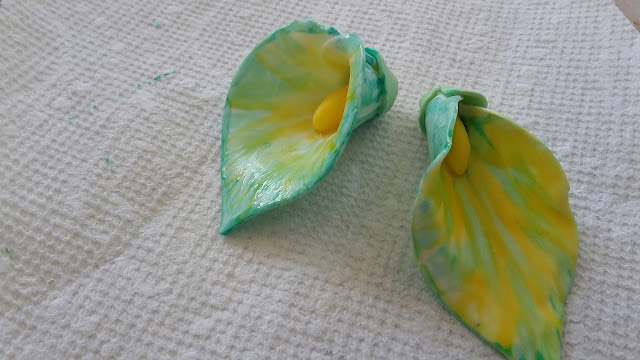 Calla Lilies made from Gum Paste