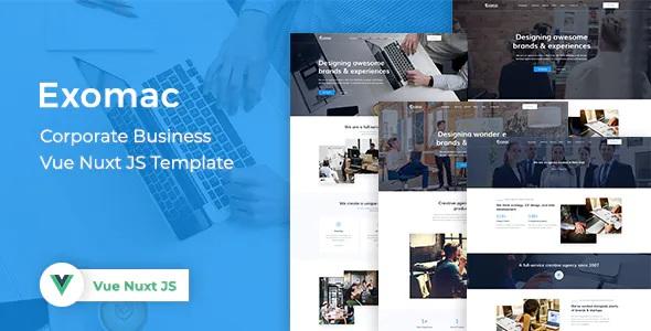 Corporate Business Vue Nuxt JS Template