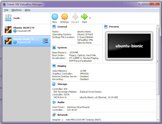Open VirtualBox