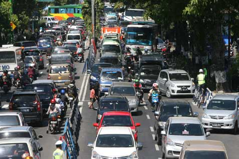 Kemacetan Arus Mudik Lebaran 2016 di Banyumas