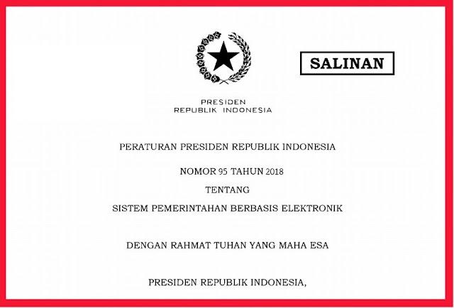Download Perpres Tentang Sistem Pemerintahan Berbasis Elektronik