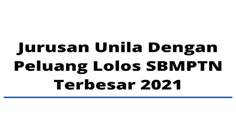 Jurusan Unila Dengan Peluang Lolos SBMPTN Terbesar 2021
