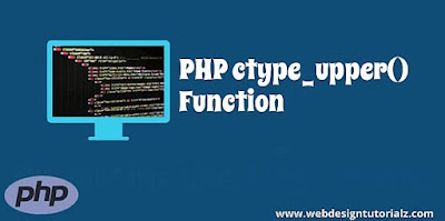 PHP ctype_upper() Function
