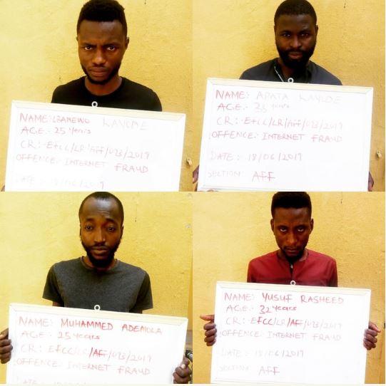 EFCC Arrests 7 Yahoo Boys In Ilorin (See Photos)