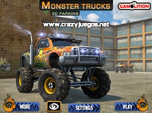 Juega Monster Trucks 3D Parking