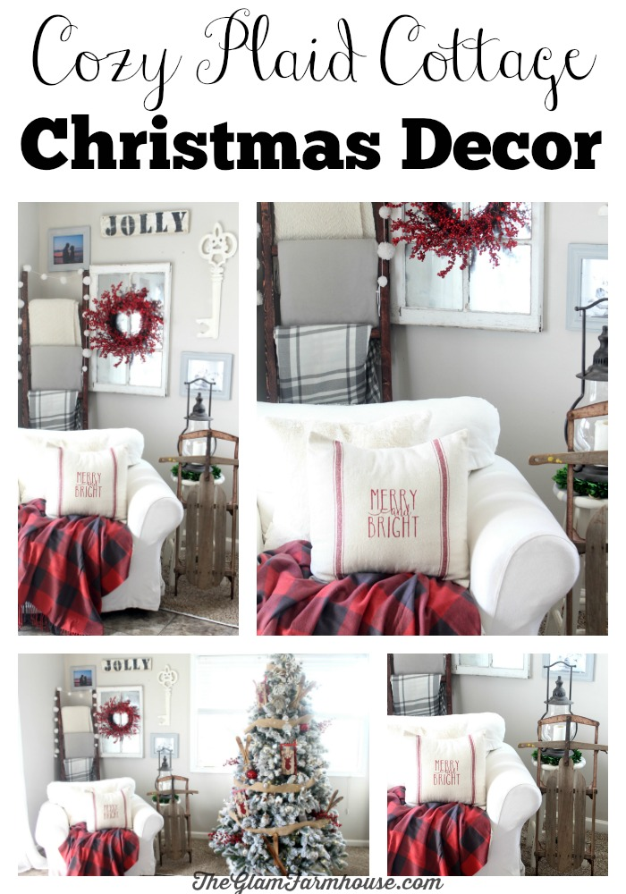 a cozy plaid christmas corner - Plaid Christmas Decor