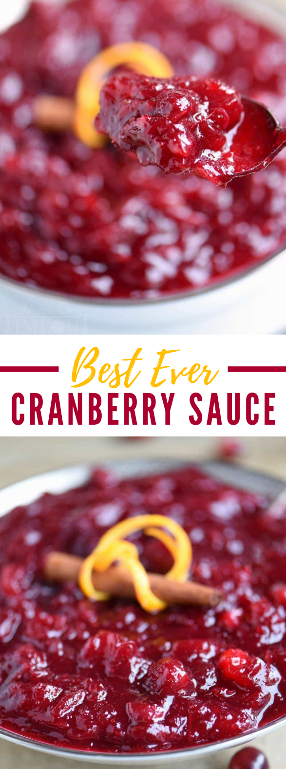 BEST EVER CRANBERRY SAUCE #meals #holidayrecipes