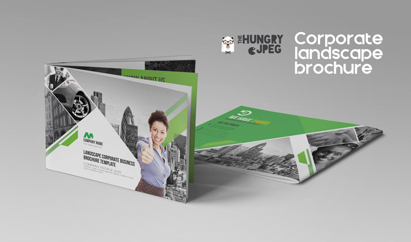Indesign Template Of Landscape Brochure For Corporate Business