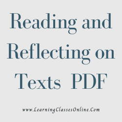 Reading and Reflecting on Texts PDF download free in English Medium Language for B.Ed and all courses students, college, universities, and teachers