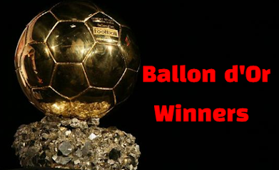 Ballon d'Or - FIFA World Player of the Year, best fifa men's player award, past winners list.