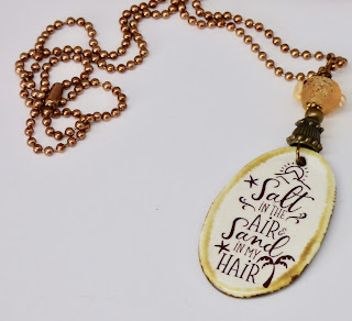 Salt in the Air, Sand in My Hair Necklace by BayMoonDesign