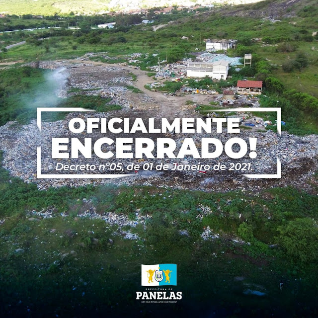 OFICIALMENTE ENCERRADO O LIXÃO DE PANELAS-PE