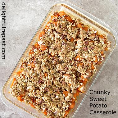 Chunky Southern Sweet Potato Casserole / www.delightfulrepast.com