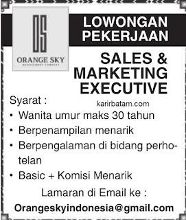 Lowongan Kerja PT. Orange Sky Indonesia