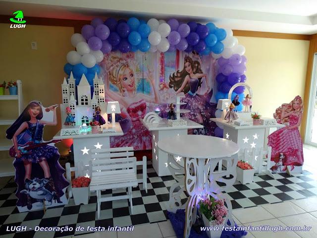 Tema infantil Barbie Pop Star - Festa de aniversário - Decoração provençal