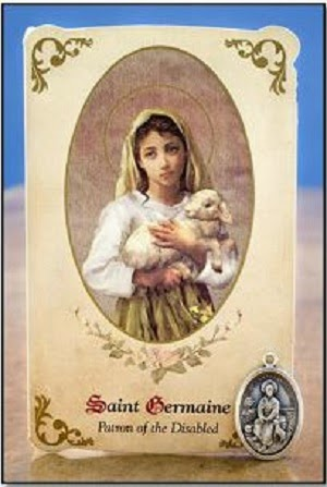 JUNE 15: St. Germaine Cousin, virgin - patron saint of the abused, neglected and marginalized.