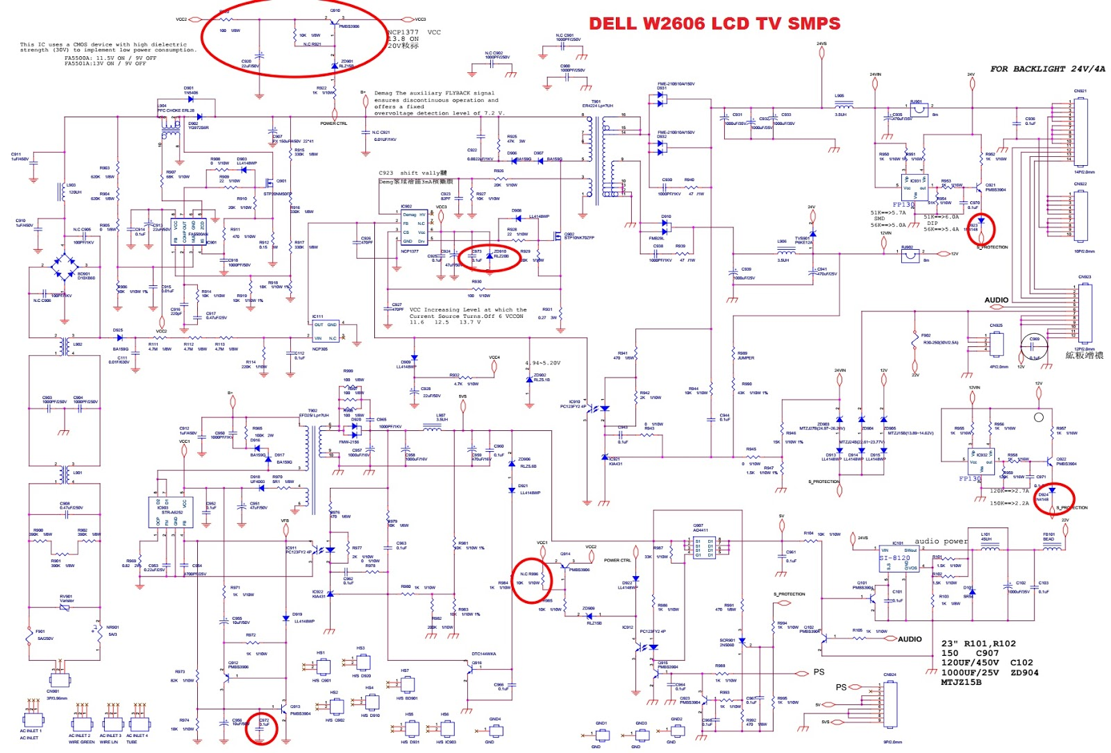 Dell Smps Schematic Quick Start Guide Of Wiring Diagram Schema Circuit Pa12 19v Notebook Adapter 1d07012 3 Lcd Tv W2607 And W2606 Rh Electronicshelponline Blogspot Com Switch Mode Power Supply