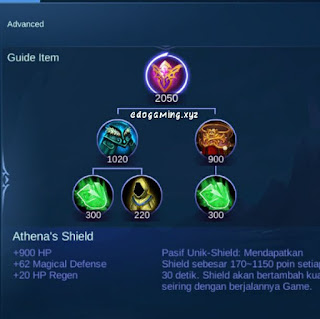 penjelasan lengkap item mobile legends item athena shield