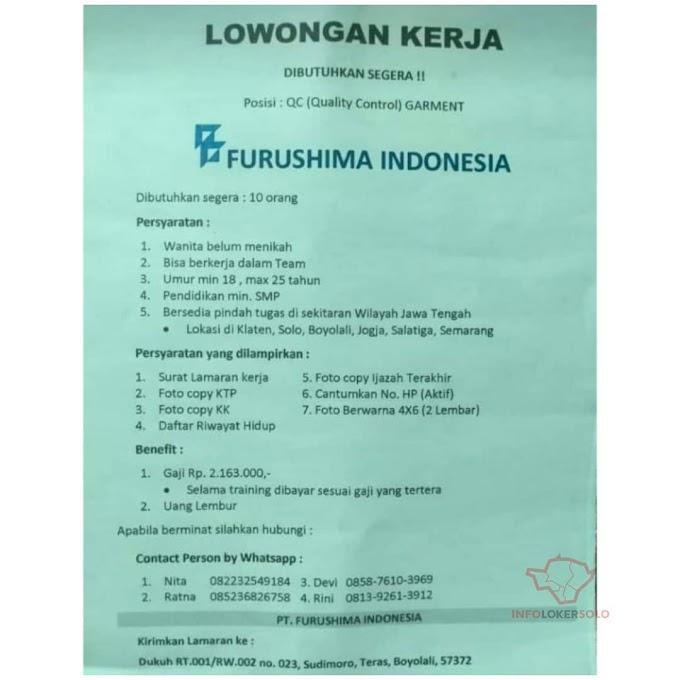 LOKER BOYOLALI di FURUSHIMA INDONESIA