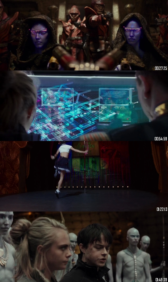 Valerian and The City of A Thousand Planets 2017 BRRip 720p 480p Dual Audio Hindi English Full Movie Download