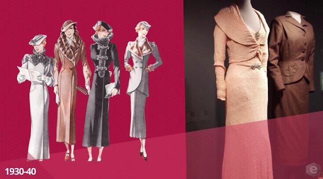 moda década de 1930 - 1940