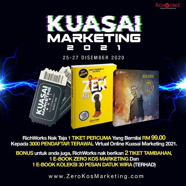 Program Virtual Online Kuasai Marketing 2021 - Formula Zero Kos Marketing