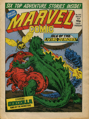 Marvel Comic #344, Godzilla, Isle of the Living Demons