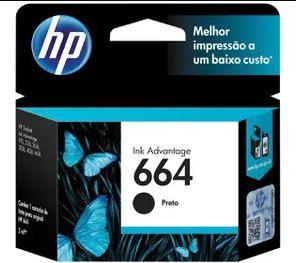 Comprar Cartucho de Tinta HP em Promoção - Cor Preto 664