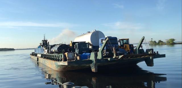 Ministério da Infraestrutura envia balsa com insumos para reconstruir Aeroporto de Coari, na Amazônia |  É MAIS QUE VOAR