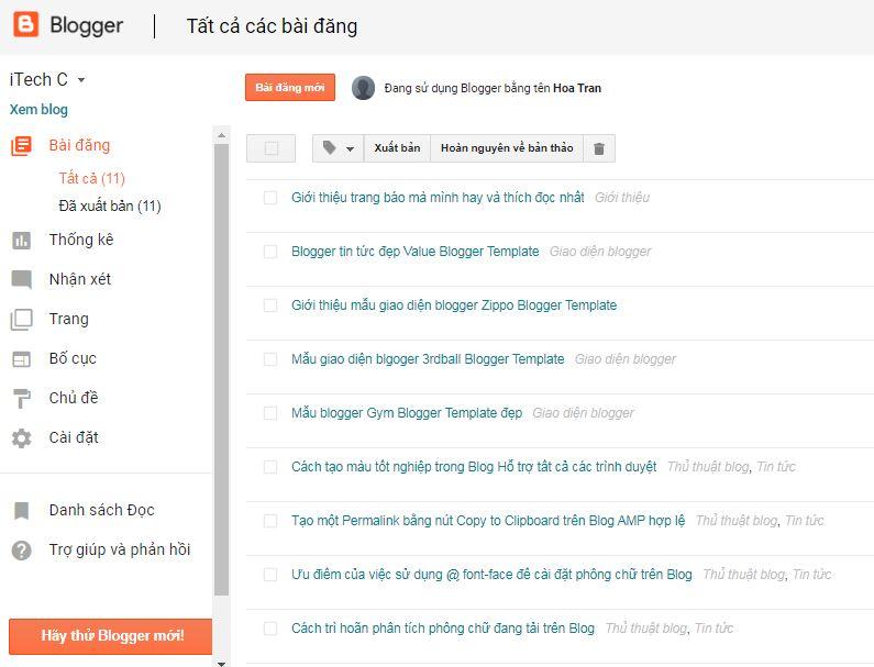 Hướng dẫn tạo một trang blog miễn phí của google