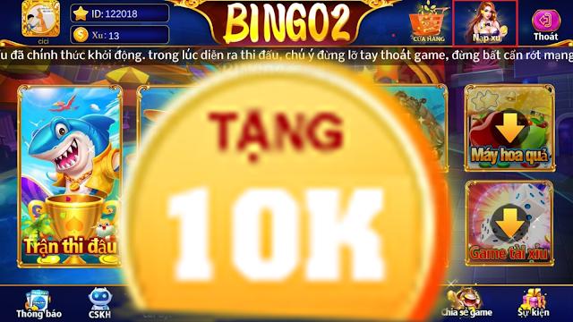 Màn hình chính của game bắn cá online BINGO2