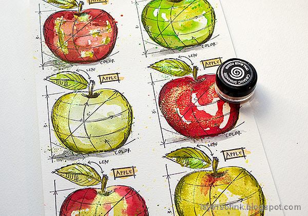 Layers of ink - Watercolor Apples Art Journal Tutorial by Anna-Karin Evaldsson.
