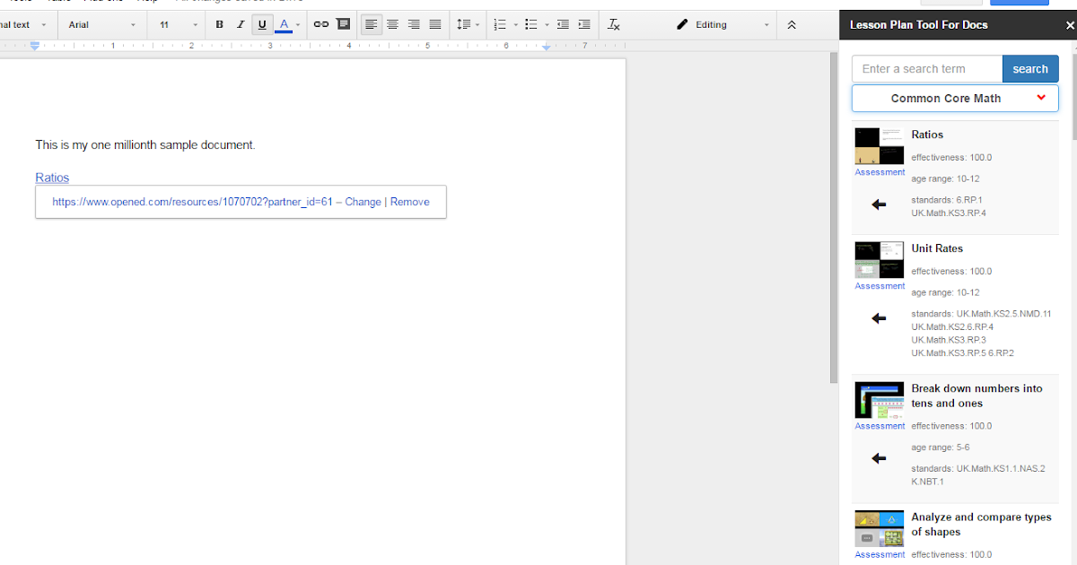 A New Lesson Plan Tool for Google Docs