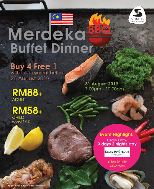 Celebrate Hari Merdeka 2019 in Ixora Hotel with Their Merdeka Buffet Dinner for RM 88+ per Adult