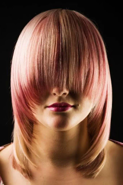 pink and gold ombre hairstyle