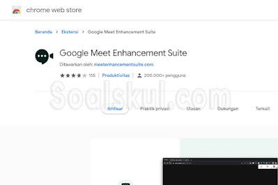 Ekstensi Chrome Google Meet Enhancement Suite