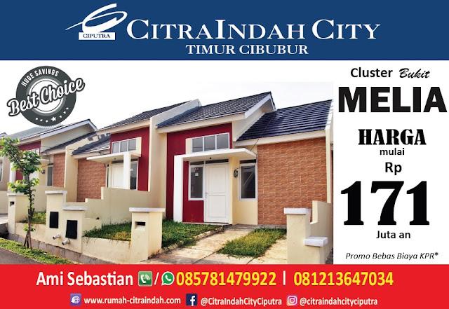 Cluster Bukit MELIA Citra Indah City mulai dipasarkan - Harga mulai 171 jt an