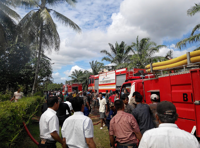 Rumah Pegawai YKPP Hangus Terbakar