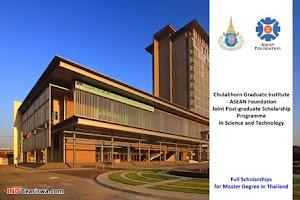 Beasiswa FULL S2 di Chulabhorn Graduate Institute Thailand
