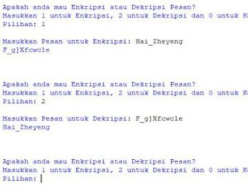 Program Enkripsi Pesan Dengan Python Dalam ASCII
