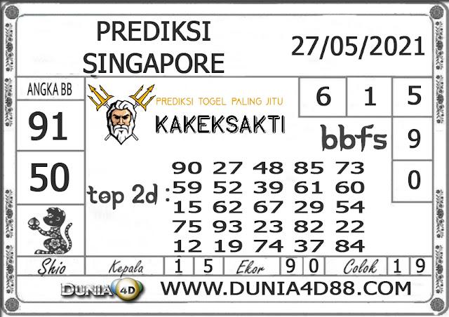 Prediksi Togel SINGAPORE DUNIA4D 27 MEI 2021