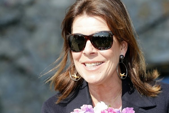 Princess Caroline of Hanover visits the 'Duane Hanson' exhibition at the New National Museum of Monaco