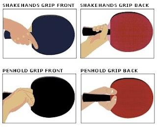 4 Teknik Cara Memegang Bet Tenis Meja