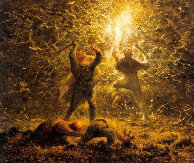 Жан Франсуа Милле - Ночная охота на птиц. 1874