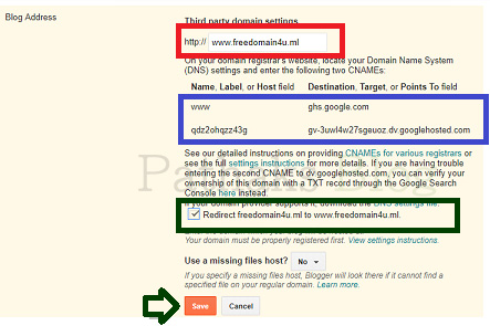 set custom domain and redirect blogger to www, pathaks blog, anil pathak blog