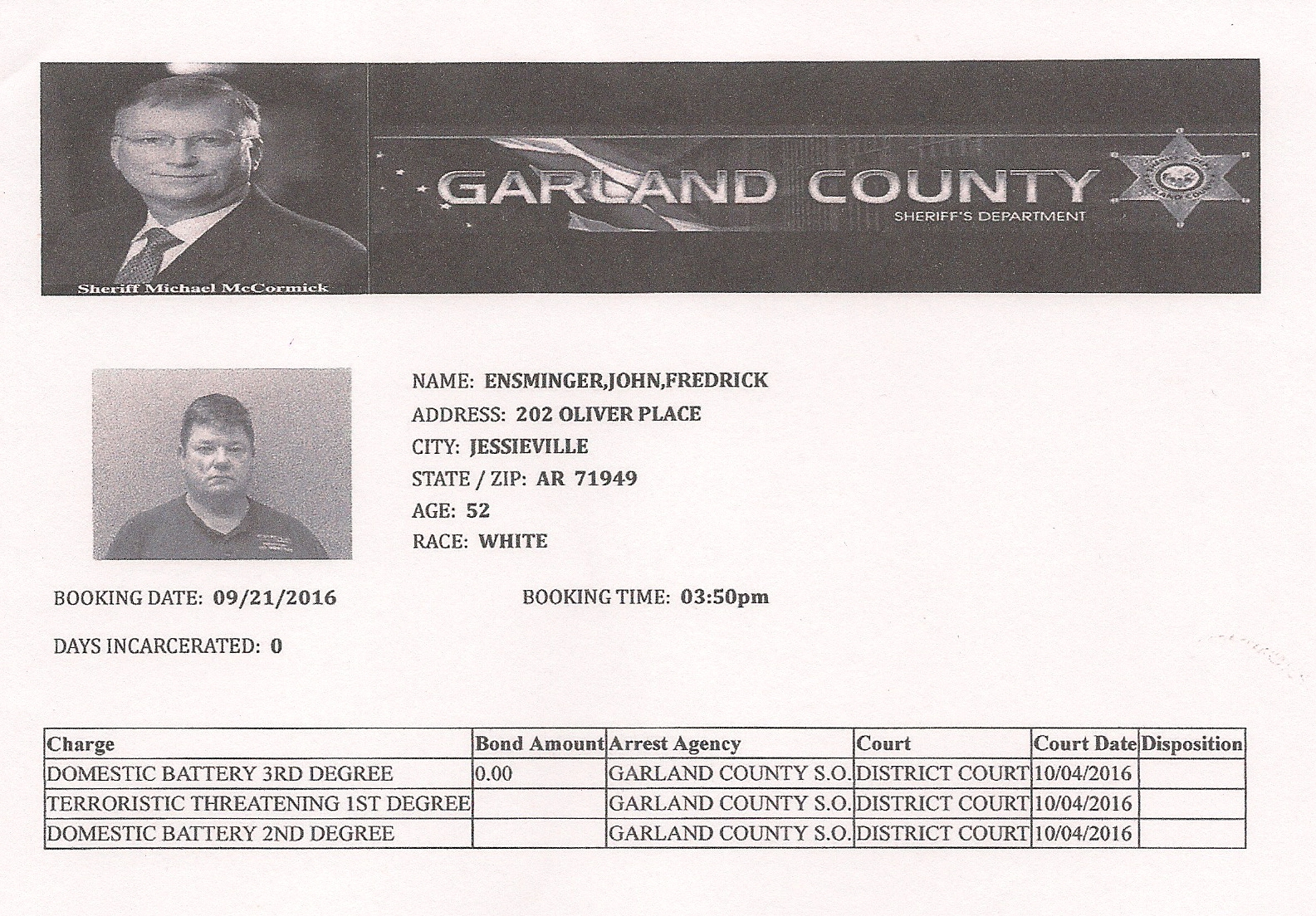 jessieville men Carter officially began at jessieville on june 9,  carter was an elementary principal in centerville, .