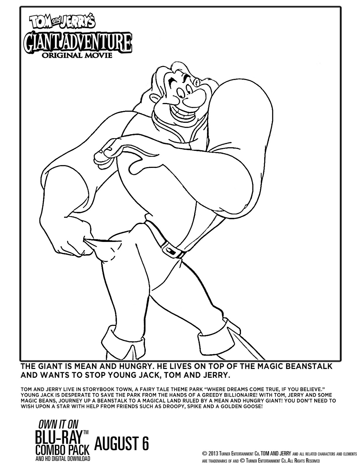 Tom and Jerry's Giant Adventure coloring sheet 4