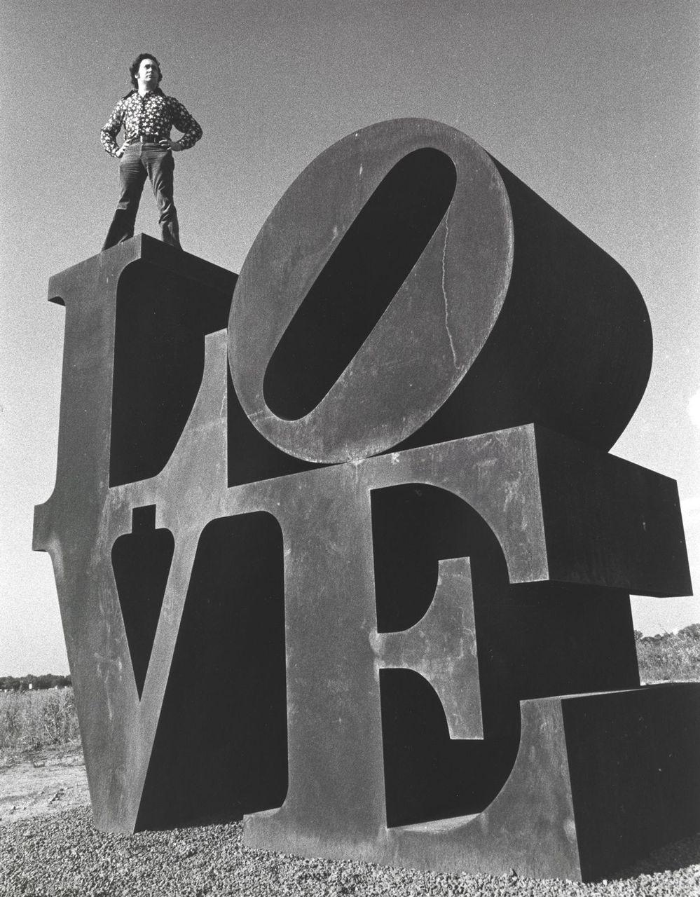 3D Four Letter Words Robert Indianas LOVE Sculptures In