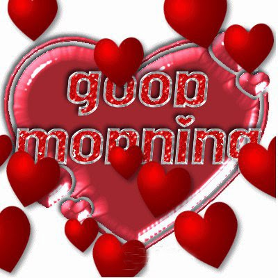 lovely good morning with hearts